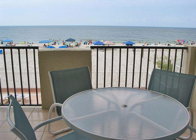 Balcony - Tropical Winds 104 ~ Great Family Friendly Condo ~ Bender Vacation Rentals - Gulf Shores - rentals