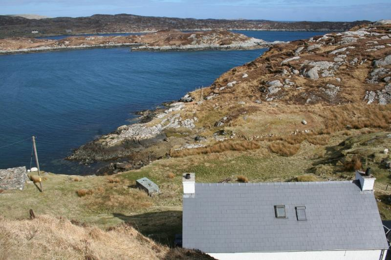 View from behind the cottage - Crook Cottage, Ardslave, Isle of Harris, HS3 3EY - Isle of Harris - rentals