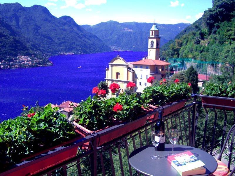 Incredible dream views from the living room and the master bedroom balconies - STUNNING LAKEFRONT - Villa Gabriella - Sleeps 4 - Pognana Lario - rentals
