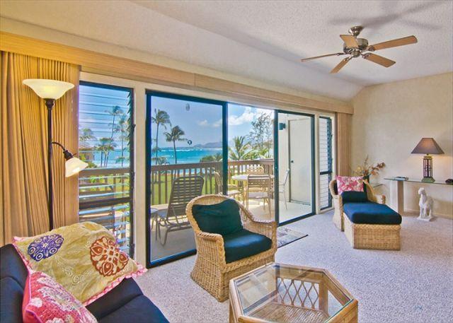 Lush beachfront property + Ocean Views - Image 1 - Kapaa - rentals