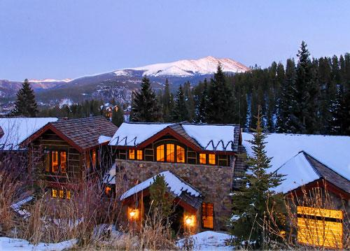 Exterior View at dusk with fresh snow! - 1498-52217 - Breckenridge - rentals