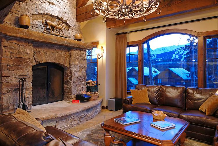 Wood Burning Fireplace at in Great Room - 1498-52203 - Breckenridge - rentals