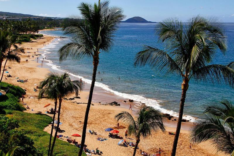 Keawakapu Beach from lanai - Mana Kai Maui Condo - Right on the Beach! - Kihei - rentals
