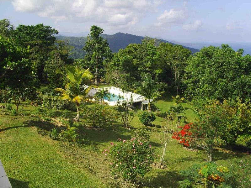 view from villa porch - Shotover Gardens Estate-Villa with Pool - Port Antonio - rentals