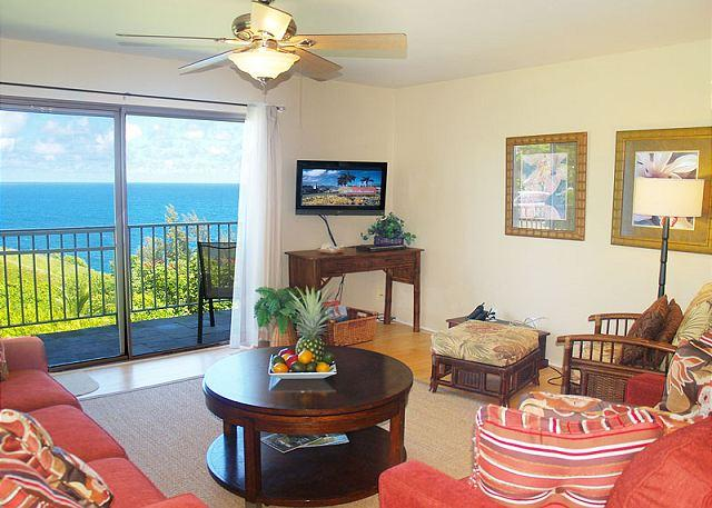 Your view! - Alii Kai 5201: Charming second floor corner, oceanfront views. - Princeville - rentals