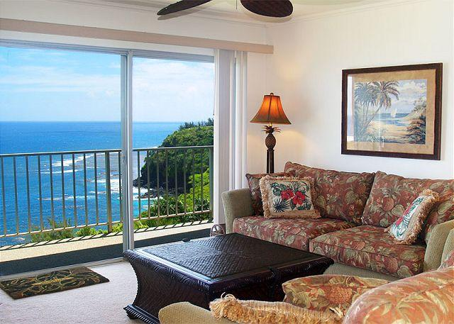 Premium oceanfront views and privacy in this top floor 2br/2ba condo! - Image 1 - Princeville - rentals