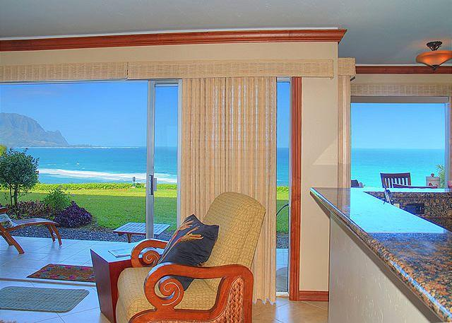 Pali Ke Kua 102: Air-conditioned with oceanfront and Bali Hai views, amazing! - Image 1 - Princeville - rentals