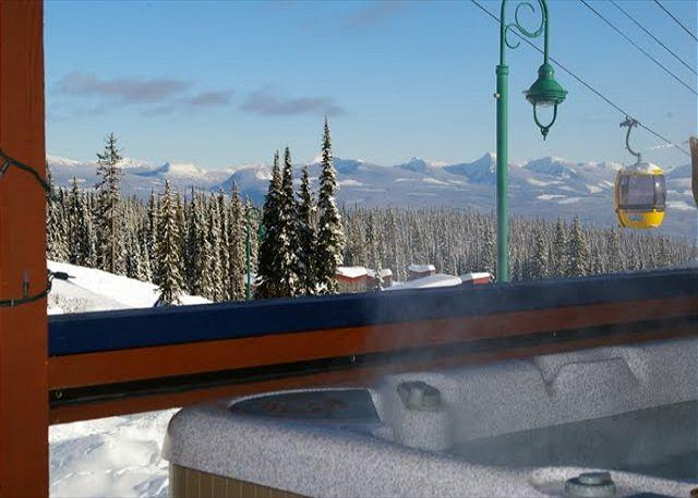 VIEW FROM HOT TUB - Glacier Lodge 103  Whitehorse Location in Big White Sleeps 5 - Big White - rentals