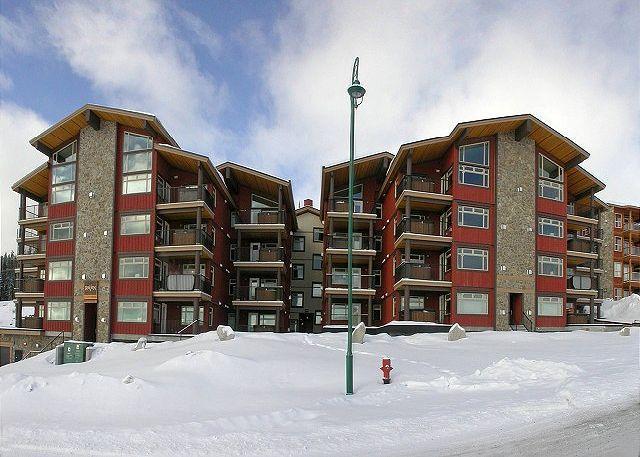 FRONT ELEVATION - Raven 107 Happy Valley Location Sleeps 8 - Big White - rentals