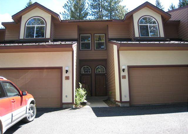 View from driveway - Spacious Aspen Village Condo with golf course views and club amenities. - McCall - rentals