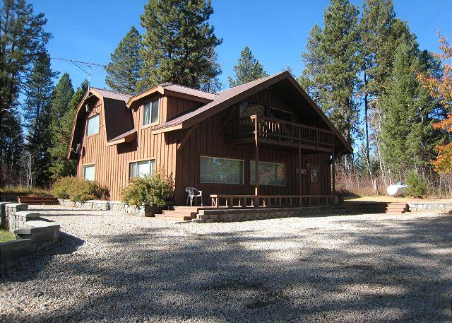 Front View of Home - Secluded Payette River Estate home with large yard and private hot tub. - McCall - rentals