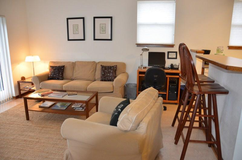 Streamside Stay living room - Streamside Stay Eco-Green Contemporary 2-Bdr Apt. - Arcata - rentals
