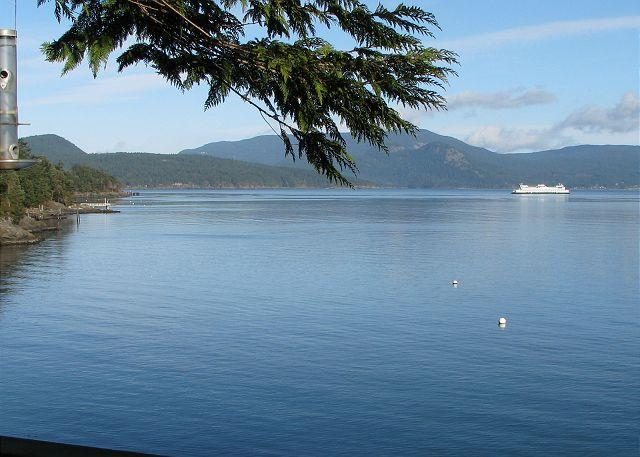 Watch the ferries come and go. - Cedars by the Sea on Lopez Island - Lopez Island - rentals