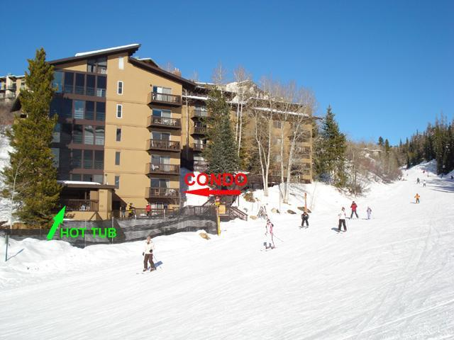 Storm Meadows East Slopeside:  True Ski-in/out. - Image 1 - Steamboat Springs - rentals