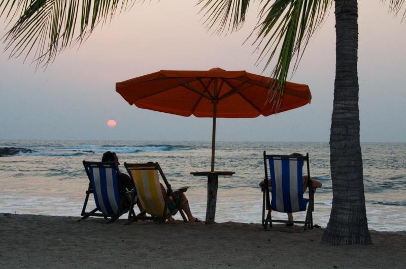 Sunset on our private beach - La Posada de los Raqueros - Troncones - rentals