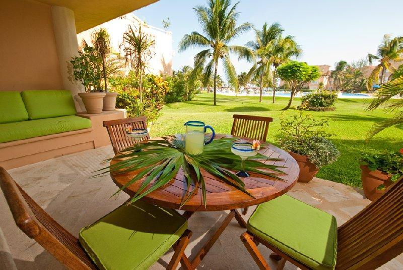 Casa Alegria private terrace - Casa Alegria VDM E102  Great Location! ground floo - Puerto Aventuras - rentals