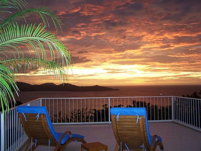 Sunset View from Terrace - 360 Degree Views from this Villa - Sleeps 8 - Playa Flamingo - rentals