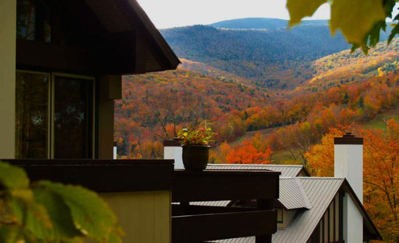 View from the deck over to Loon Mountain - Chalet in Coolidge Falls - Lincoln - rentals