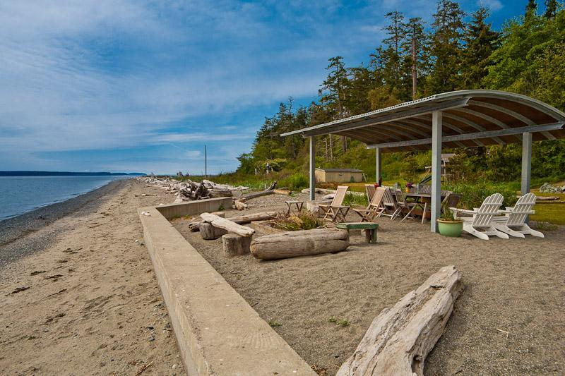 Miles of sandy beach stretching in either direction - Whidbey Island Beachfront -Luxury on a Sandy Beach - Whidbey Island - rentals