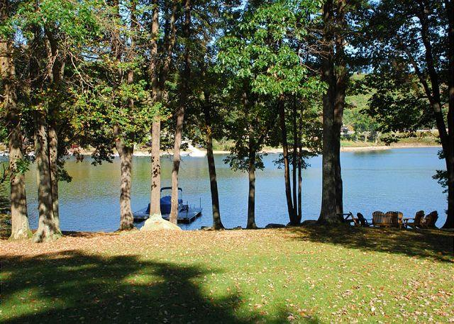 Patio View - Beautiful 4 Bedroom Lakefront home just minutes from the ski slopes! - McHenry - rentals