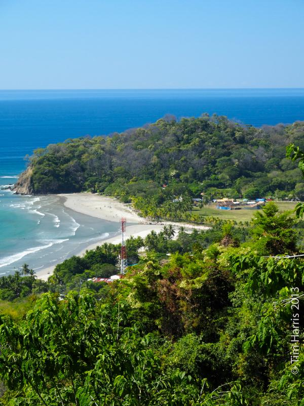Samara beach ( north/west end) from a nearby hilltop. - WONDERFUL LOCATION IN SAMARA, Guanacaste - Playa Samara - rentals