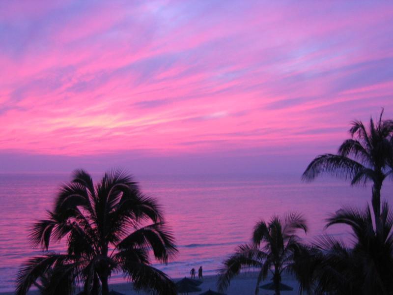 Balcony Sunset - Villa La Estancia,1302 Oceanfront, Brad & Joey :) - Nuevo Vallarta - rentals