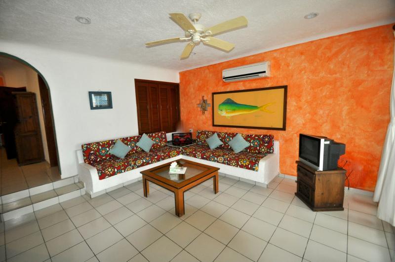 Living Room of the 3 Bedroom condo - Del Sol Beachfront 3 Bedroom Condo - Akumal - rentals