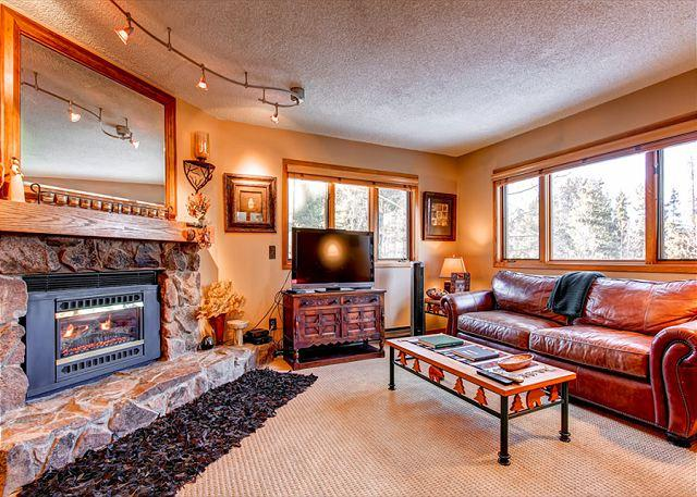 Woods Manor Living Room Breckenridge Lodging Vacation Rentals - Woods Manor 103B Condo Breckenridge Colorado Vacation Rental - World - rentals