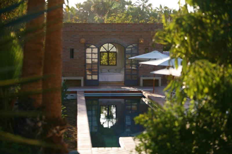 The pool and pool bedroom at the end - Hacienda los olivos - Todos Santos - rentals
