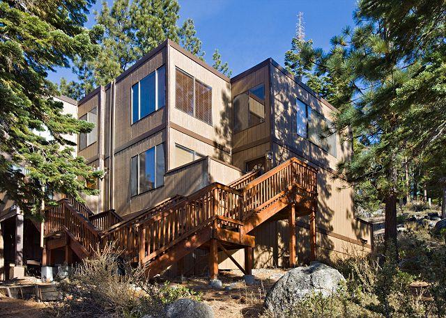 Tahoe, Lake Village 201, exterior walkway - Comfortable pet friendly condo with filtered lake views. - Stateline - rentals