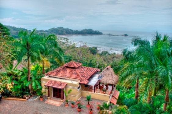 5-min brisk walk to the beach below - DOMINICAL OCEAN VIEW WALK-TO-BEACH VACATION VILLA - Dominical - rentals