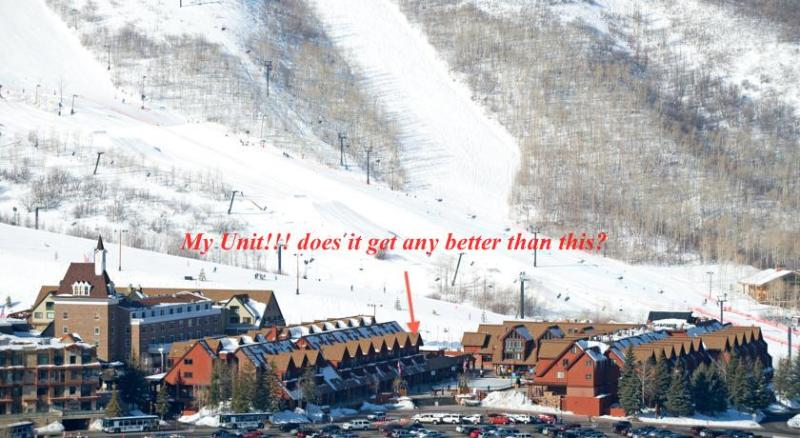 My Unit! It doesn't get any better than this! steps to the park city ski runs - Ski in/out Luxury Park City  hottub pool wifi view - Park City - rentals