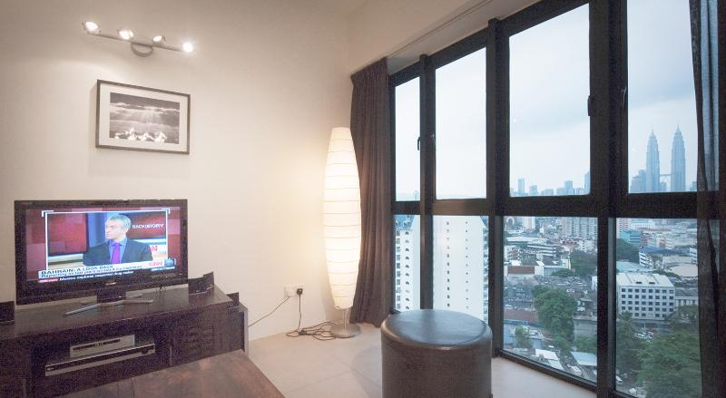 Living room with city view - Luxury apartment with spectacular view - Kuala Lumpur - rentals