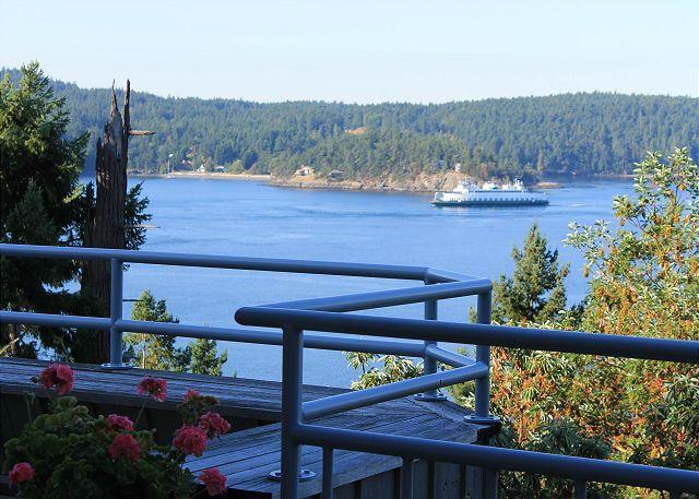 Watch the interisland ferry come and go. - Isle of Sky on Orcas Island - Orcas - rentals