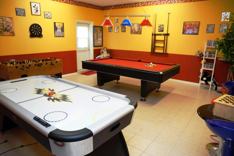 The 5-STAR game-room of Emerald Magic - Emerald Island Resort's luxury Emerald Magic - Kissimmee - rentals