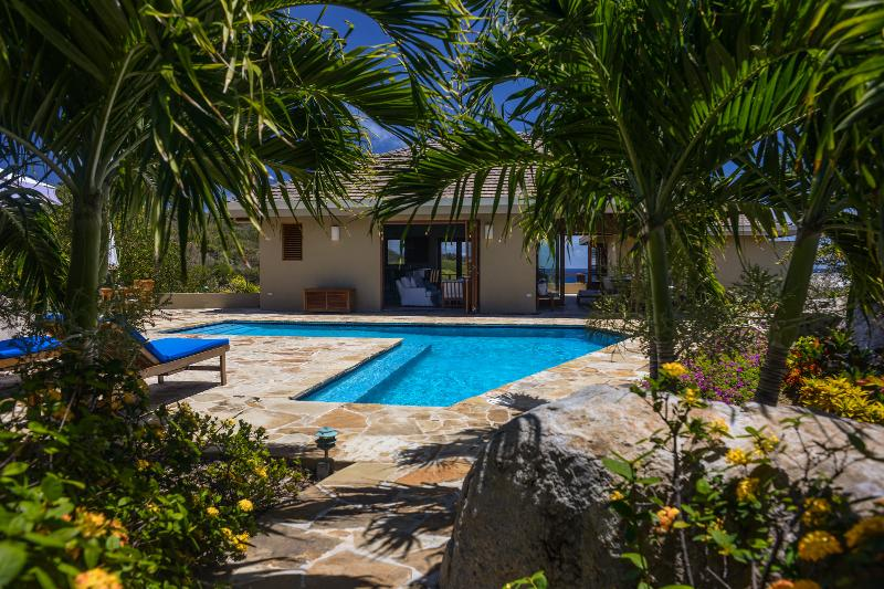 View of pool and house from the entrance - Calypso Villa - Spectacular Ocean Views  3 Bedroom - Virgin Gorda - rentals