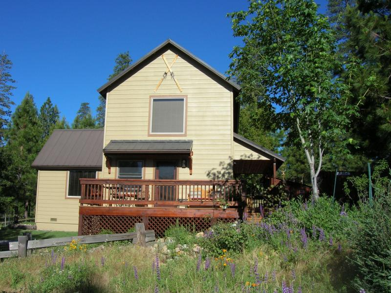 "East facing deck with views of Yosemite Valley and spectacular viewing of night skies. - Inside Yosemite! Beautiful  ""Clouds Rest Cabin"" - Yosemite National Park - rentals"
