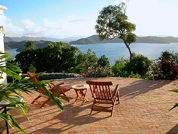 Sun Deck - Astral Villa, great view, pool, two hot tubs - Coral Bay - rentals