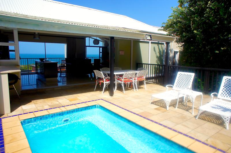 Pool & Terrace & View to Ocean at front of House - Beachhaven villa: Private pool, Ocean views, Wifi - Stanger - rentals