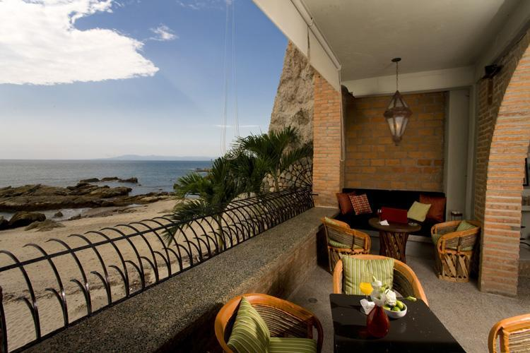 Beach Terrace & View - Vida Mar - Casa Tres Vidas - Beachfront Villa - Fully Staffed - Gourmet Chef - Puerto Vallarta - rentals