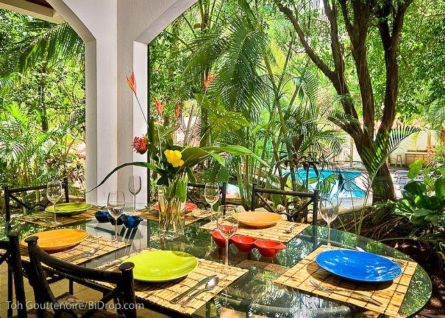 Terrace - Classy 3BR beach condo- modern/tropical furnishings, patio CB4 - Tamarindo - rentals