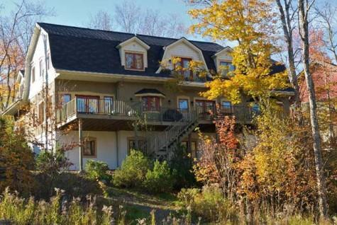 back of home /upper and lower decks on the golf geant, cross country trail in winter - Million Dollar Home on Mont Tremblant Resort - Mont Tremblant - rentals