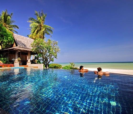 Infinity pool overlooking the beach - Baan Sarika 5BR Luxury Beachfront Villa - Lamai Beach - rentals