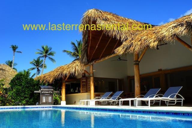 The pool and terrace - Tropical paradise at Playa Coson - Las Terrenas - rentals