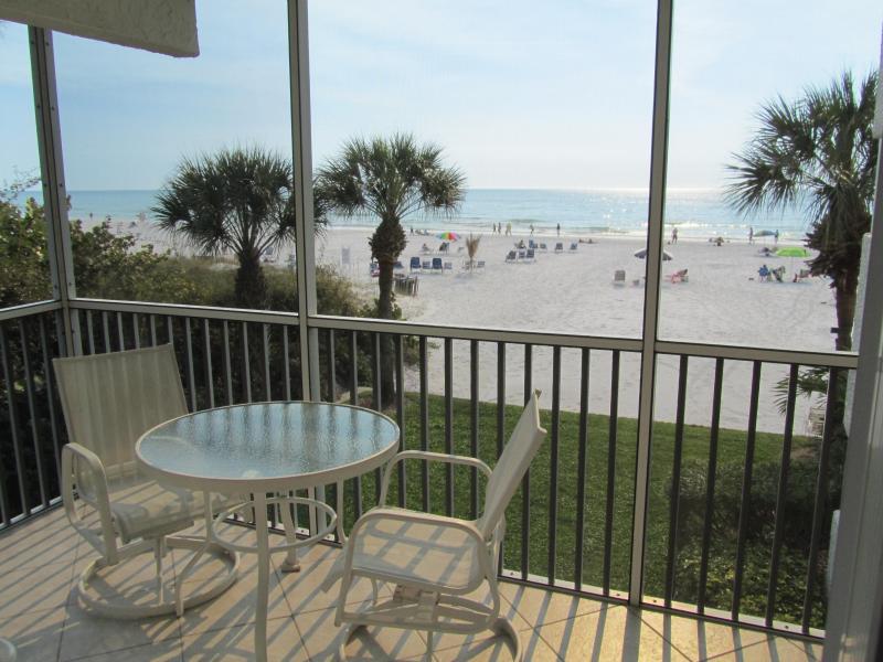 Screened Lanai, facing the beach - Siesta Key Luxurious Beachfront Condo - Sarasota - rentals