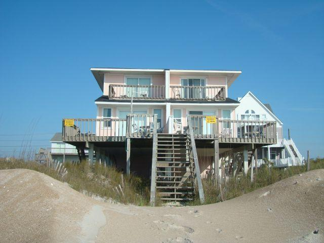 Exterior - Beach Blessing, 3562 &3564 Island Dr, North Topsail Beach, NC - North Topsail Beach - rentals