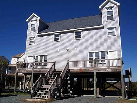 Home - Sounds Like Fun - Scenic Water View, Convenient Beach Access, Tranquil Area - North Topsail Beach - rentals