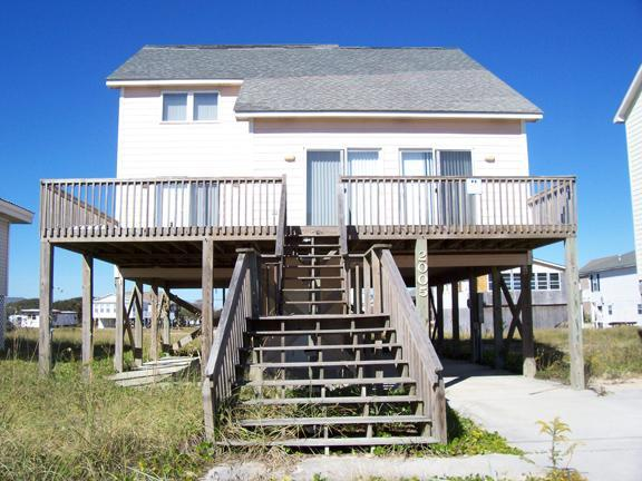 Exterior - By The Sea - SUMMER SAVINGS UP TO $125! Ocean View, Cottage Style, Pet Friendly - Surf City - rentals