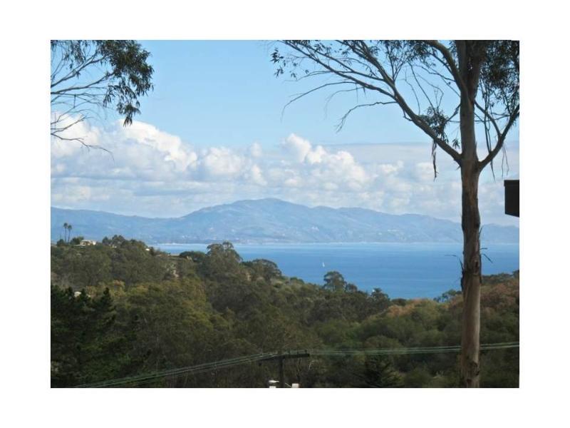 Partial ocean view from bedrooms and yard - Charming Home: Ocean Views, Hot Tub, 1 Mi to Dwntn - Santa Barbara - rentals