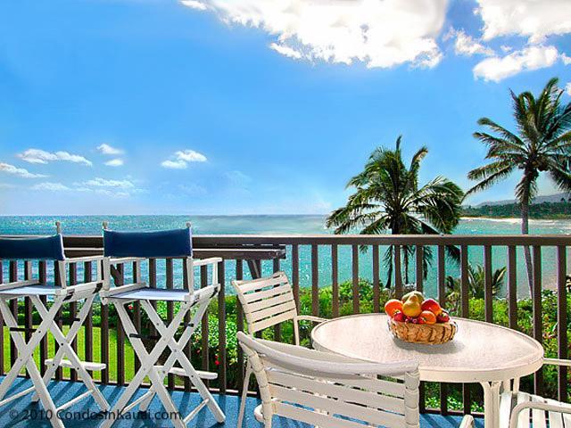 Lanai View - Beautiful Oceanfront Oceanview Deluxe Kauai Condo - Kapaa - rentals